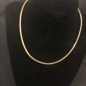Jewelry - 14K Chocker Beveled Necklace